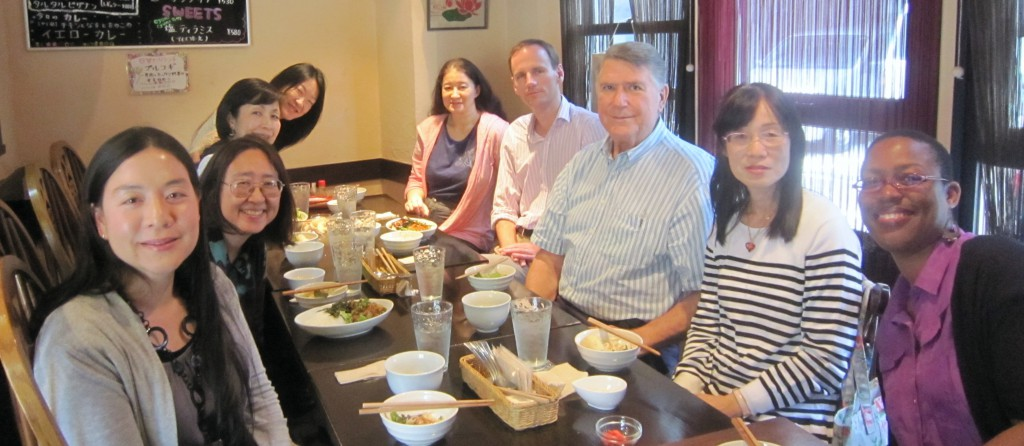 Lunch gethering with Dr. Clarke at Okinawan restaurant in Tsuruhashi, Osaka