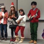 マンドリン演奏 学生フェア2014年12月月例会にて
